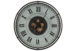 Horloge  Bord métallique chiffres romains