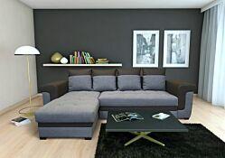 Salon d'angle Latte convertible en lit