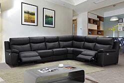 Salon d'angle en cuir taureau & relax S479