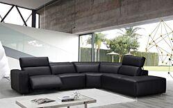 Salon d'angle S696 en cuir avec relax électrique
